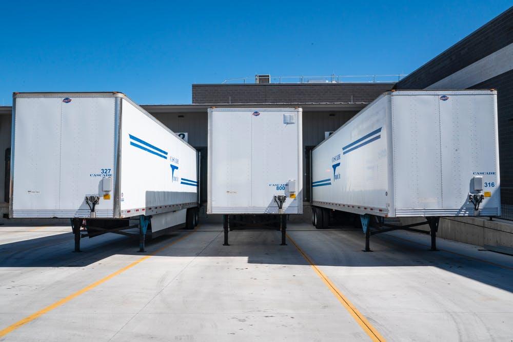 trucks for freight forwarding