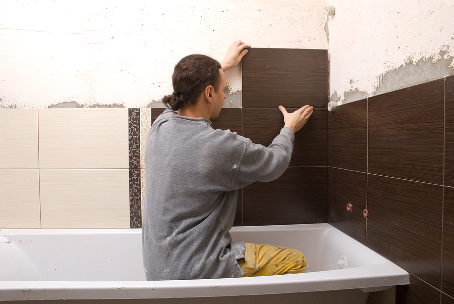 Bathroom renovations Sydney contractor while working