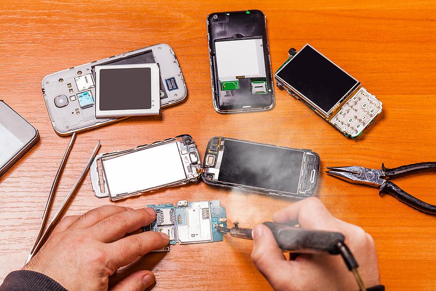Few broken phones and a soldering iron