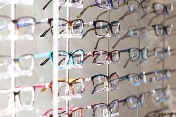 Display of Lindberg glasses in Sydney